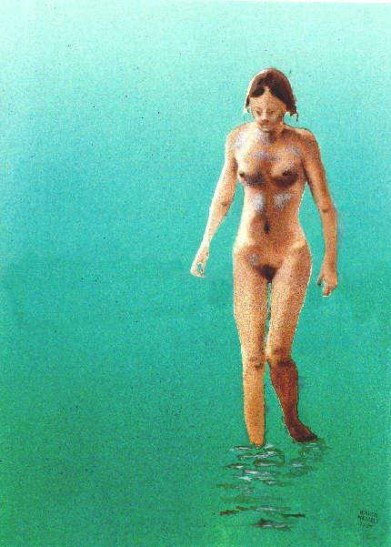 Sprühbild: laufendes Mädchen